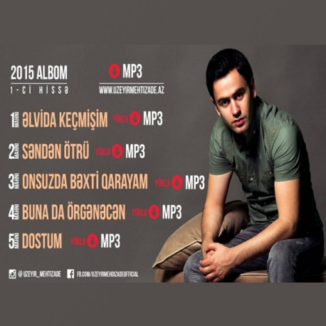 دانلود آلبوم جدید Uzeyir Mehdizade به نام 2015